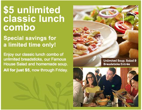 offer extended 5 00 unlimited classic lunch combo at