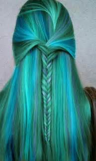 blue green hair color blue green mermaid hair color shades of blue green