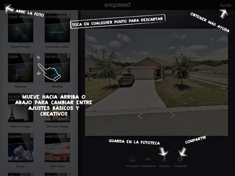tutorial de snapseed tutorial snapseed retocador de fotos para ios y android