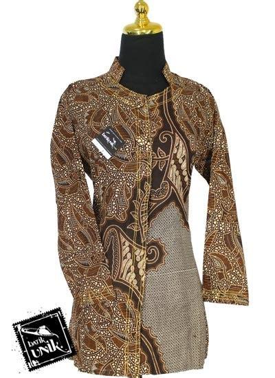 Blus Batik Lengan Belah Ba7159 baju batik sarimbit blus motif pelepah parang belah sarimbit blus murah batikunik