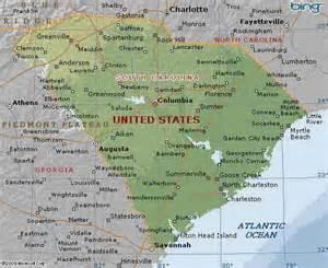 map of south carolina united states