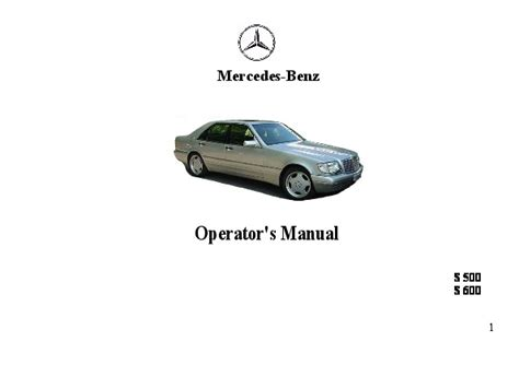 old car owners manuals 1994 mercedes benz s class head up display 1994 mercedes benz s500 s600 w140 owners manual