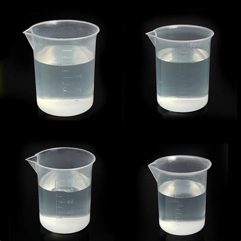 Plastic Cup Yellow Intl 50ml kitchen laboratory test plastic measuring beaker cup