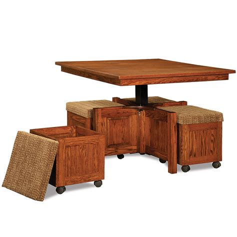 convertible ottoman coffee table convertible coffee table with stools handmade amish game