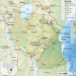 Tanzania Africa Map by Tanzania Map Africa Pictures To Pin On Pinterest