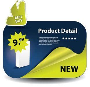 product labels vectors