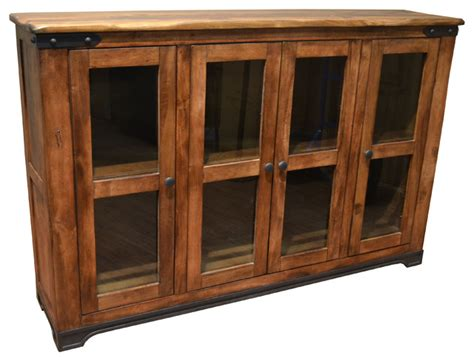 Rustic Solid Wood Bookcase Sideboard China Cabinet Console Solid Wood Sideboards And Buffets