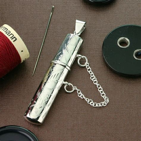 decorative needle case needlecase decorative silver great gift for sewing
