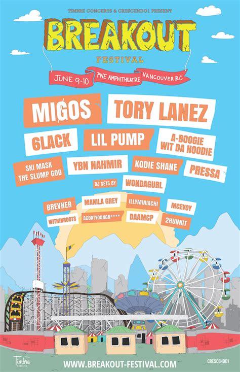 lil pump vancouver vancouver s breakout festival to feature migos 6lack lil