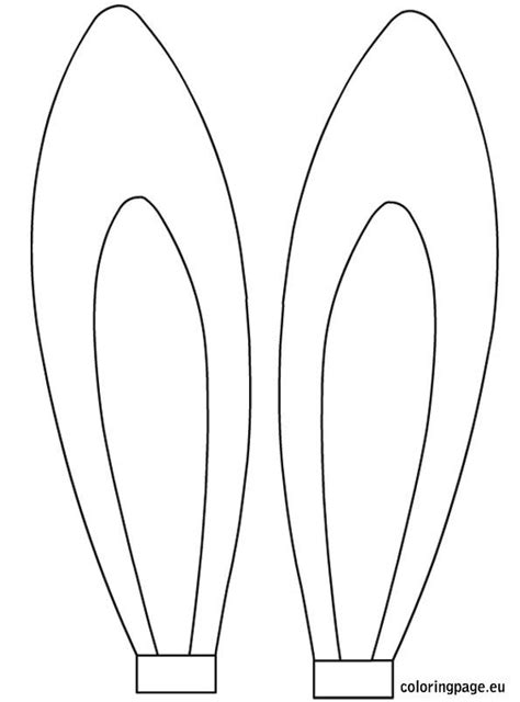 printable zebra ears easter rabbit ears template easter pinterest easter