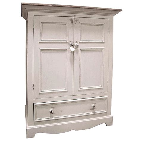 french country tv armoire with one drawer