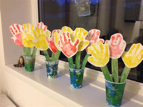 S Day And Craft Print Flowers Lovely S Day Craft For Pre