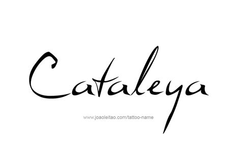 cataleya name tattoo designs