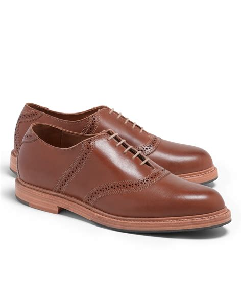 saddle shoes brothers distressed leather saddle shoes in brown