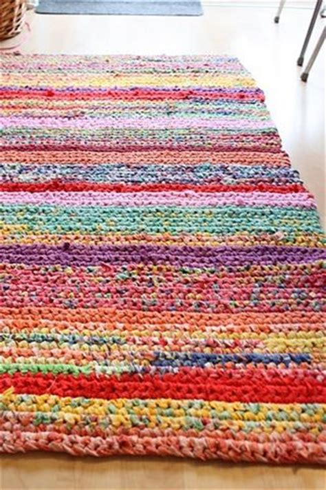 Thrift Rugs by Handmade Crochet Rug Made Out Of Thrift Store Sheets