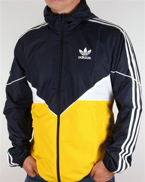 adidas windbreaker adidas originals colorado windbreaker navy yellow jacket