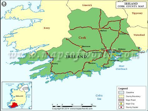county cork ireland map cork county map ireland
