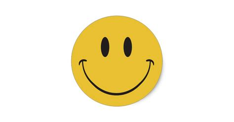 Home Sweet Home Wall Sticker super big smile happy face emoji classic round sticker