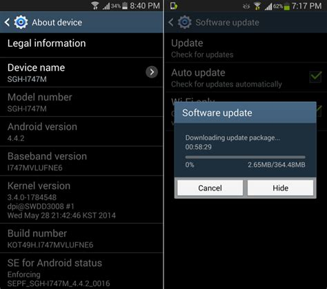 android 4 4 2 update android 4 4 update now available in canada for galaxy s3 and note 2 update