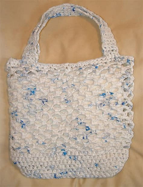 crochet pattern for plarn bag recycled net market bag my recycled bags com