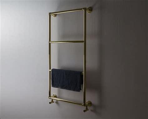 polished brass heated towel rail traditional towel radiators