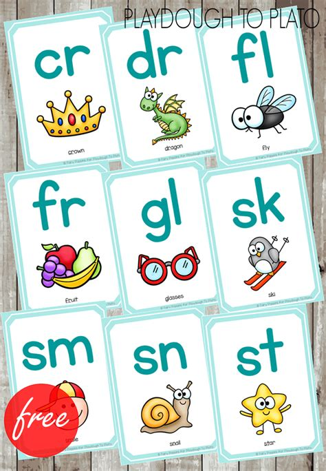 printable dice flash cards free blends cards and dice playdough to plato