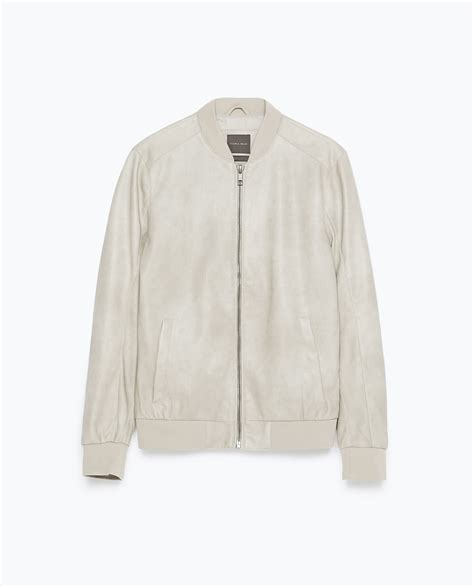 Zarra Bomber Jacket Kualitas Premium zara faux leather bomber jacket in for lyst