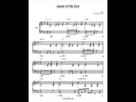 apple of my eye song apple of my eye eve piano sheet music youtube
