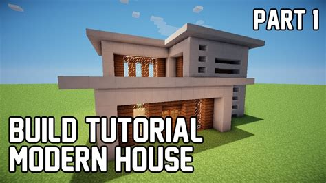 how to build a modern house in minecraft minecraft how to make modern house 1 part 1 youtube