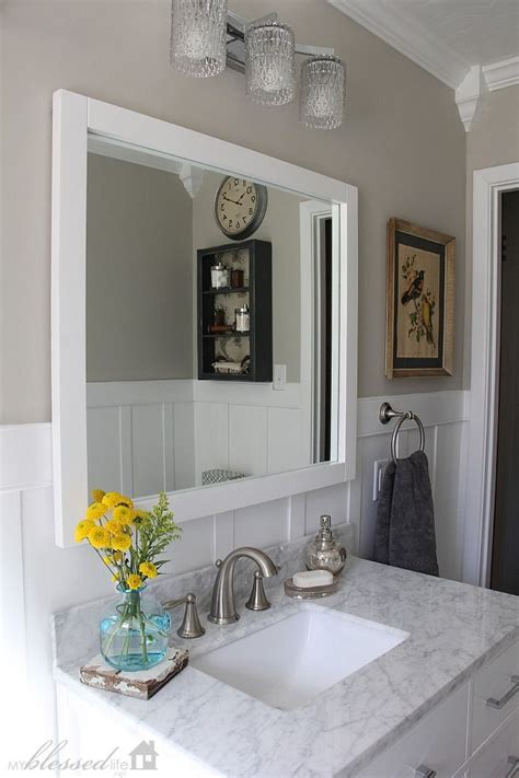 revere pewter in bathroom beautiful cottage style bathroom makeover myblessedlife