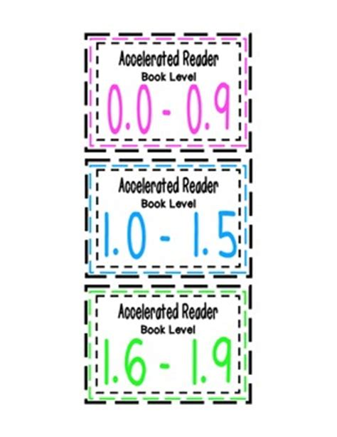 accelerated reader ar book bin labels accelerated