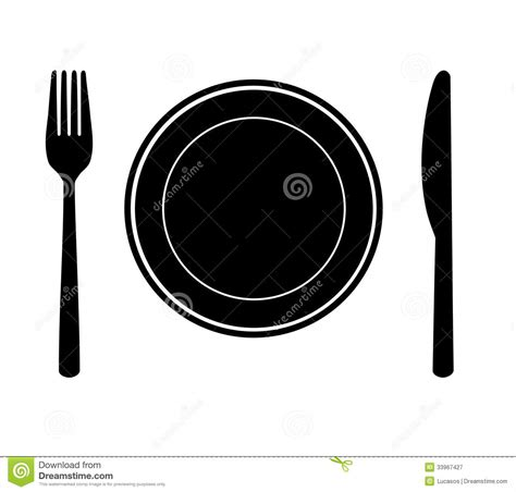 Kitchen Knives Set Plate With Knife And Fork Royalty Free Stock Photography