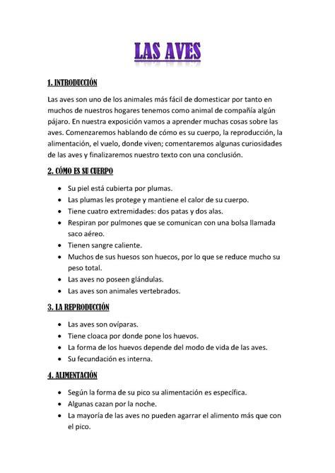 Calaméo - Las Aves - Texto expositivo
