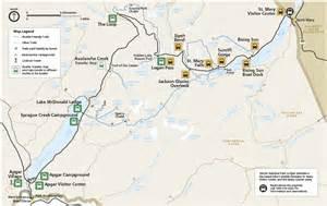 us map glacier national park shuttle stops glacier national park u s national park
