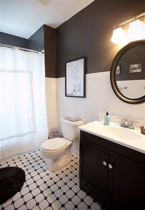 Black And White Bathrooms Design Ideas Decor And Accessories Small Black And White Bathrooms Ideas
