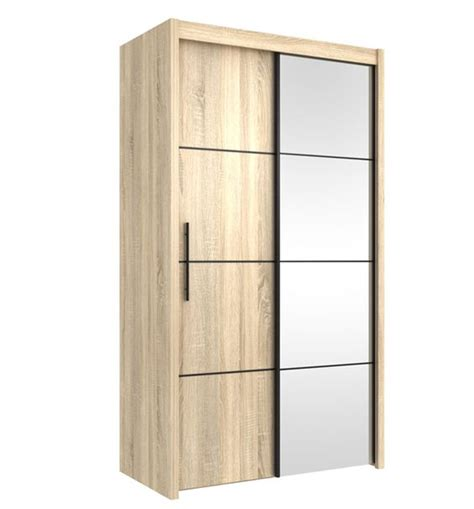 Sliding Door Oak Wardrobe by Inova Oak 2 Door Sliding Door Wardrobe Slider 120cm P4ds4112