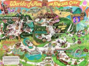 Map Of Worlds Of Fun by An Old Worlds Of Fun Map Retro Pinterest Places