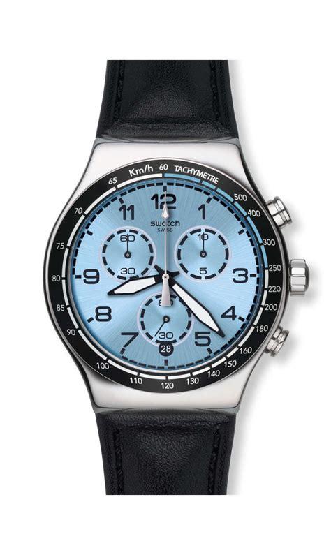 Alexandre Christie Ac 6280 Leather Chrono Original swatch yvs421