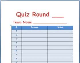 trivia template 21 free quiz template word excel formats