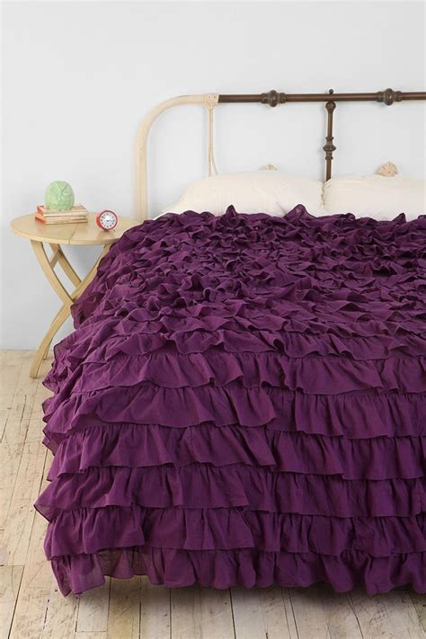 purple ruffle bedding 25 best ideas about purple duvet covers on pinterest