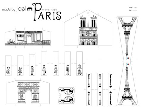 Papercraft City - diy city of papercraft that fits in your pocket