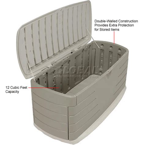 rubbermaid deck box with seat bins totes containers containers deck boxes