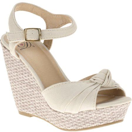 Sandal Wedges Garsel E 411 s sue ankle knot wedge sanda