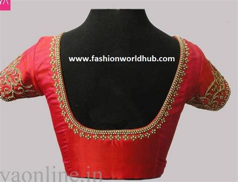 Simple Blouse simple blouse design with patch work blouses galleries