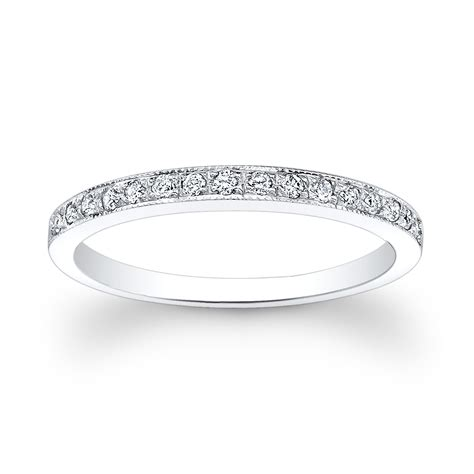 18kt thin pave wedding band 0 15 ctw g vs2