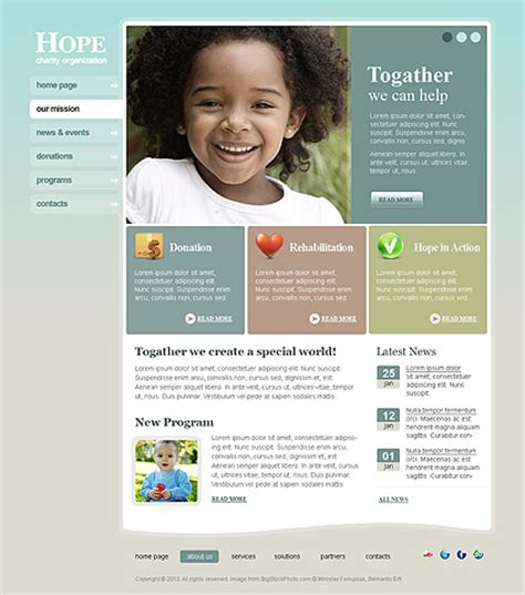 Charity Hope Html Website Template Best Website Templates Best Charity Website Templates