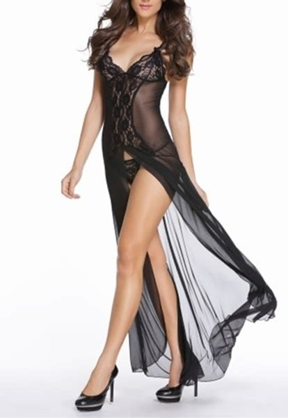 sexy sleepwear  long sexy gowns  sexy lace