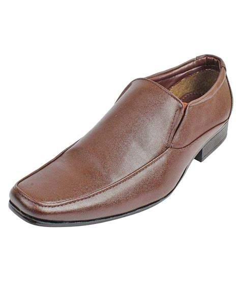 paragon shoes paragon brown office genuine leather formal shoes price in
