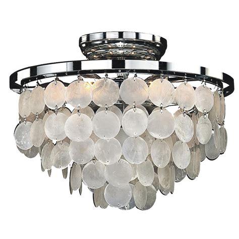 capiz flush mount light glow lighting bayside 6 light capiz shell and chrome frame