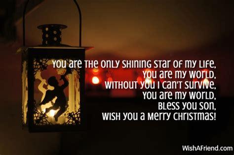 shining star christmas message  son